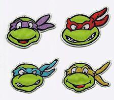 Set of 4 Teenage Mutant Ninja Turtles Embroidered Iron On / Sew On Patches