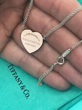 Tiffany & Co Return To Tiffany Rubedo Heart Pendant Sterling Silver Necklace