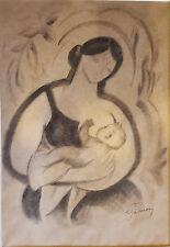 Cubist  Exquisite signed work Romanian Hungarian circa 1930