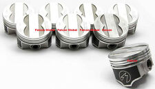 """Speed Pro/TRW Pontiac 400 Forged Coated Flat 4VR Pistons Set/8 +.030"""" w/rings"""