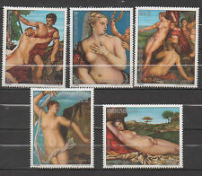 Paraguay stamp set MNH paintings nude art  - 0159