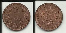 AUSTRIA 5/10  KREUZER 1858 A FRANZ JOSEPH I°