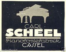 Pianofortefabrik Scheel Cassel Reklame von 1924 Klavier Flügel Kassel Werbung ad