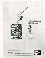 PUBLICITE  1963   CLAUDE  lampe CLAIRE  ampoule