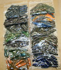 "4"" Swimming Craw Assortment Bass Plastics 48 count bag worm Jig Trailer"