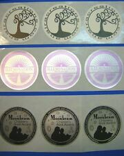 "Custom Printed Round Stickers 1-3/4"" Diameter Circle Business 250 Labels 1-Color"