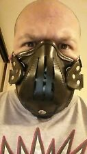 LEATHER FACE MASK SURVIVAL MOTORCYCLE HORROR S & M BURNING MAN STEAMPUNK
