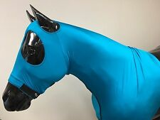 Sleazy Sleepwear for Horses Genuine Stretch Hood Teal Large with Full Zipper