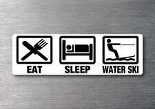 Eat Sleep Water Ski sticker 7 year water & fade proof vinyl sticker