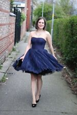 Ted Baker Langley Collection Raul Lace Ball Dress In Navy Blue Sz 3 US 8