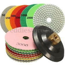 "8PCS 4"" Inch Diamond Polishing Pad Backer Set For Marble Concrete Granite Polish"