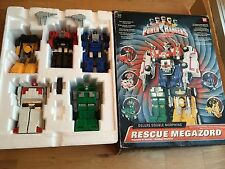 Power Rangers turbo rescue megazord + box 99% complete Very rare toy