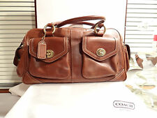 COACH TOBACCO CALF LEATHER LARGE SATCHEL - AWESOME BAG! NOT AN OUTLET BAG!!