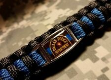 Blue Lives Matter DALLAS POLICE Thin Blue Line E.O.W. Paracord Key Fob Carabiner