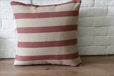 45cmX45cm Vintage Classical Red Line Home Decor LINEN CUSHION COVER PILLOW CASE