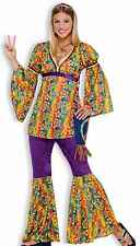 Sexy Adult 60s Purple Haze Groovy Mod Hippie Costume Bell Bottoms 70s 60's -Fast