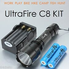 UltraFire C8 CREE XM-L T6 2000LM FlashLight Kit for Military Tactical & Security