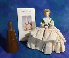 Vintage Madame Du Barry Goebel Porcelain Tea Cozy Doll w Stand & Pamphlet DB27