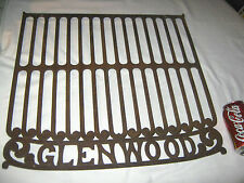 ANTIQUE PRIMITIVE C. 1898 GLENWOOD COUNTRY STOVE CAST IRON GRILL SIGN WALL RACK
