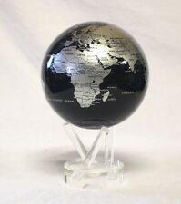 Mova Blue and Silver Rotating Globe