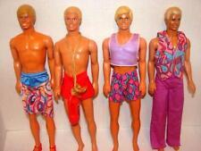Mattel~Vintage Ken~Barbie Dolls~Lot of 4~1968 Body Styles~Mod~