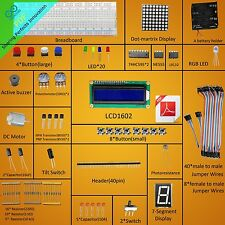 New Project Super Starter Kit for Arduino UNO R3 Compatible LCD1602 DC Motor LED