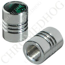 2 Chrome with Green Swarovski ® Crystal Valve Caps for Motorcycle Car Truck Bike