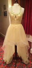 LEMON HIGH LOW PROM/EVENING/BRIDESMAID DRESS BY E DRESSES - SIZE 6-8