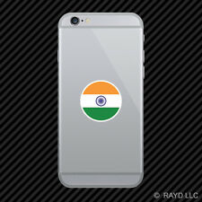 Round Indian Flag Cell Phone Sticker Mobile India IND IN