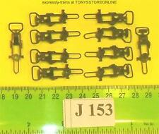 j153 jouef spares 1x 10 couplings (brown) euro type c/w harness