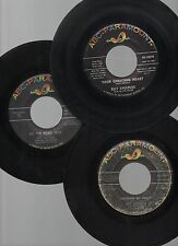 """RAY CHARLES LOT OF 3 STOCK 7"""" R&B 45rpm ABC SINGLES HIT THE ROAD JACK & MORE!!"""