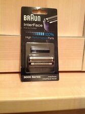 GENUINE BRAUN 3000 INTERFACE EXCEL FOIL AND CUTTER SHAVER HEAD NEW SEALED