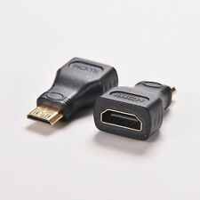 2Pcs For HDTV Mini HDMI Type C Male to HDMI Type A Female Adapter Connectors HC