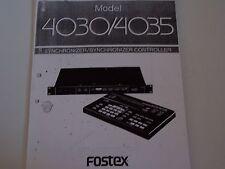 Fostex Model 4030 / 4035 Synchronizer - Synchronizer Controller PDF Manual