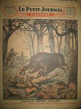 MEUSE VAUX-LES-NOUZON CHASSEUR ET SANGLIER ATTENTAT FACHOT LE PETIT JOURNAL 1929