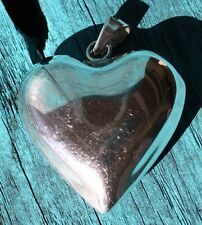 Gorgeous Vintage Sterling Silver 925 Large Puffed Heart Pendant (12g)