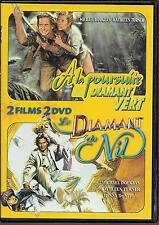 2 DVD ZONE 2 / 2 FILMS--A LA POURSUITE DU DIAMANT VERT & LE DIAMANT DU NIL