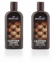 2 x 235ml ASTONISH LEATHER SUITE CLEANER RESTORER SOFA CONDITIONER CREAM POLISH