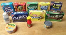 Vintage 1980s Lot of Play Food Cardboard Grocery Boxes, Cans, Bottles  LOT 1 T35