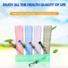 High Quality Silicone hookah Foldable bong pipe Solid color