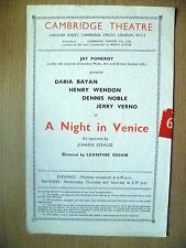 CAMBRIDGE THEATRE- D BAYAN,H WENDON,D NOBLE & J VERNO in A NIGHT IN VENICE