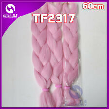 "24"" Light Pink Kanekalon Jumbo Braiding Synthetic Hair Extension Twist Braids"