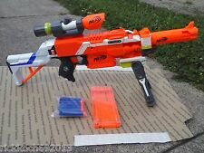 NEW CUSTOM ULTIMATE NERF ELITE SNIPER TOY DART GUN With Scope Bi-Pod & Barrel