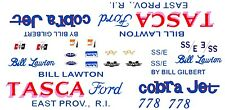 Bill Lawton TASCA Ford 67-68 Mustang Cobra Jet 1/18th Scale Waterslide Decals