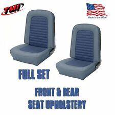 1966 Mustang Convertible Front & Rear Seat Upholstery - Blue - TMI-IN STOCK!!