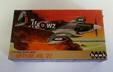 VINTAGE 1967 HAWK 1/72 SPITFIRE MK 22 MODEL KIT AIRPLANE