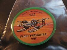 1961 JELL-O HOSTESS AIRPLANE SERIES COIN #141 1938 fleet freighter HIGH GRADE