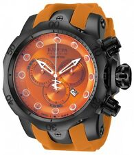 New Mens Invicta 11960 Venom Reserve Chronograph Orange Rubber Strap Watch