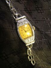 Pretty Ladies 14 K White Gold Vintage Art Deco Hinged Case Hirco Watch Parts Rep