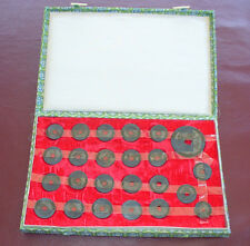 24 China old coins issued 1662 to 1723 in presentation box